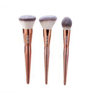 Alamar Cosmetics Complextion Brush Trio- Rose Gold